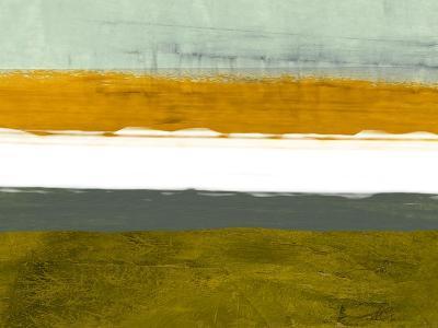 Abstract Stripe Theme Yellow and White-NaxArt-Art Print