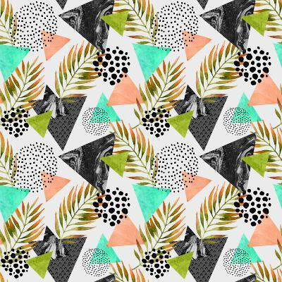 Abstract Summer Geometric Seamless Pattern-tanycya-Art Print