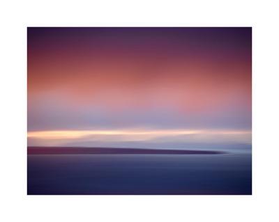 Abstract Sunset-Savanah Plank-Giclee Print