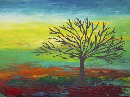 Abstract Tree 3-Hilary Winfield-Giclee Print