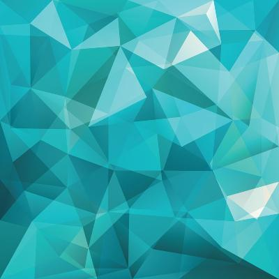 Abstract Triangle Background-Ms.Moloko-Art Print