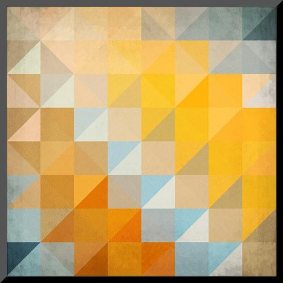 Abstract Triangles Geometry-art_of_sun-Mounted Print