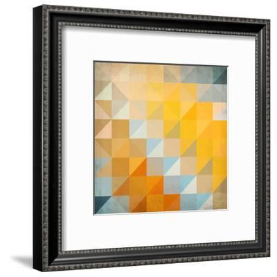Abstract Triangles Geometry-art_of_sun-Framed Premium Giclee Print