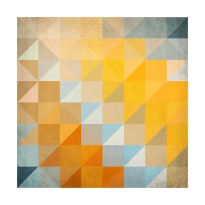 Abstract Triangles Geometry-art_of_sun-Art Print