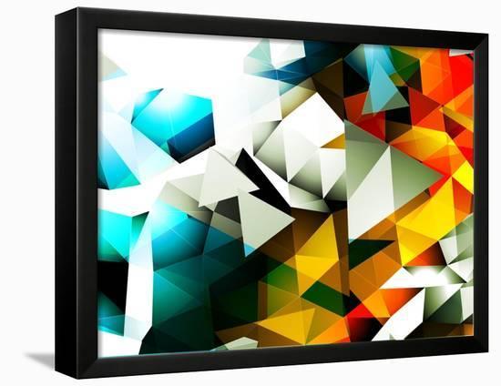 Abstract Triangular Background-VolsKinvols-Framed Stretched Canvas