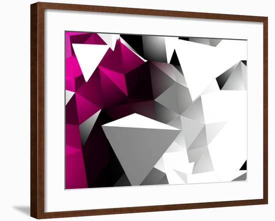 Abstract Triangular Background-VolsKinvols-Framed Art Print