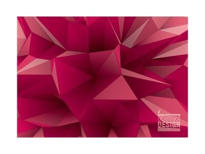Abstract Triangular Crystalline Background, Low Poly Style Illustration- archetype-Art Print