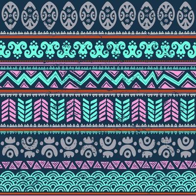 Abstract Tribal Pattern-transiastock-Art Print
