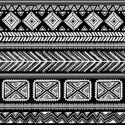 Abstract Tribal Pattern-transiastock-Art Print