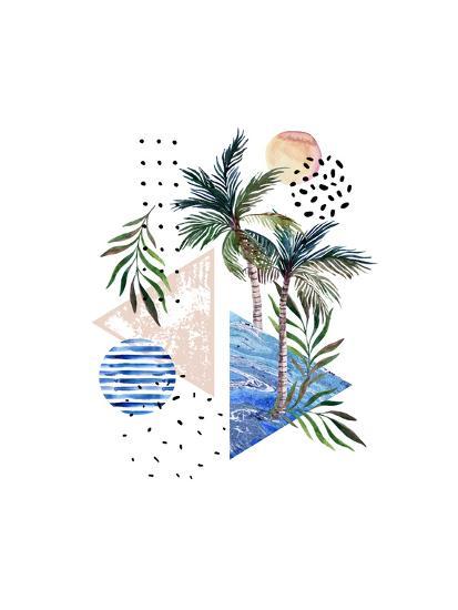 Abstract Tropical Geometric Pattern-tanycya-Art Print