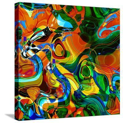 Abstract Vibrant Pattern--Stretched Canvas Print