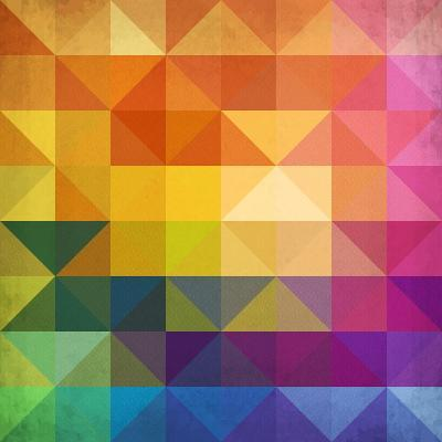 Abstract Vibrant Triangles-art_of_sun-Art Print