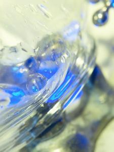 Abstract View of Water Drops on a Transparent Surface