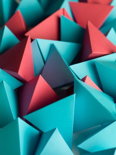 Abstract Wallpaper Consisting of Multicolored Pyramids-Comaniciu Dan-Photographic Print