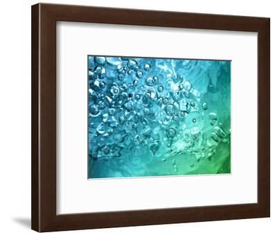 Abstract Water With Bubbles-nikkytok-Framed Photographic Print