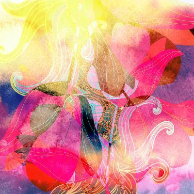 Abstract Watercolor Background-tanor27-Art Print