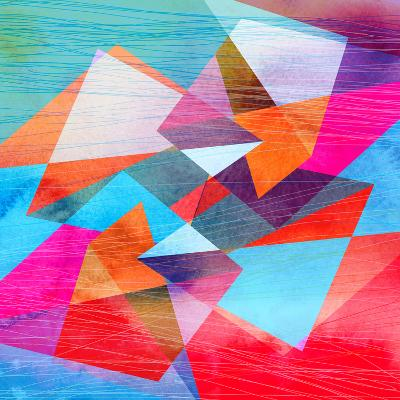 Abstract Watercolor Geometric Background-tanor27-Art Print