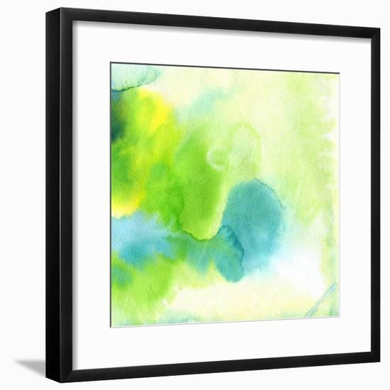 Abstract Watercolor Hand Painted Background-katritch-Framed Premium Giclee Print