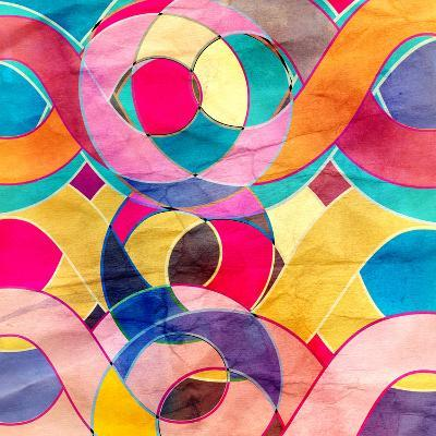 Abstract Watercolor Retro Background-tanor27-Art Print