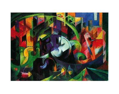 Abstract with Cattle-Franz Marc-Art Print