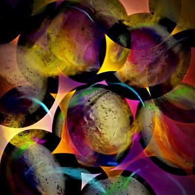 Abstract with Circles-Ursula Abresch-Photographic Print