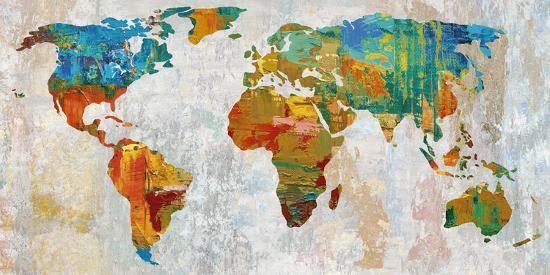 Abstract World Map Art Print By Paul Duncan Art Com