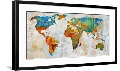 Abstract World Map-Paul Duncan-Framed Art Print
