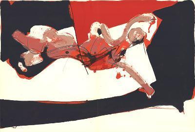 Abstracted Female Figure-Paul Rebeyrolle-Art Print