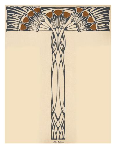 Abstracted Plant in the Jugendstil Manner--Giclee Print
