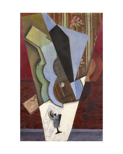 Abstraction (Guitar and Glass), July 1913-Juan Gris-Giclee Print