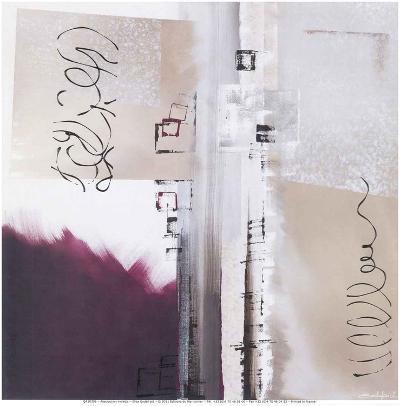 Abstraction Violette-Elisa Godefroid-Art Print