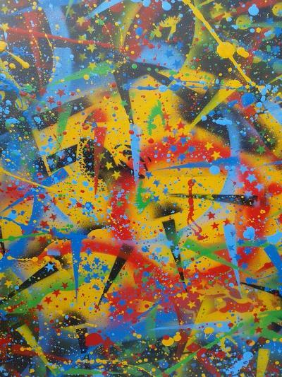 Abstraction-Abstract Graffiti-Giclee Print
