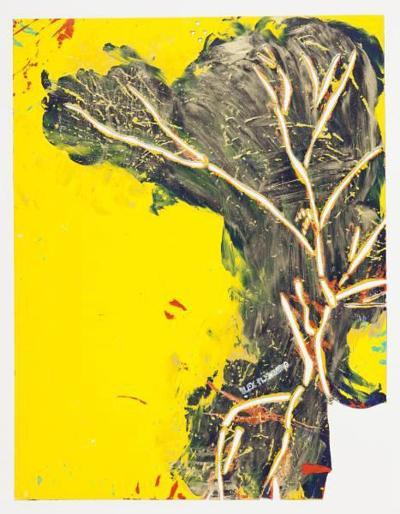 Abstrato Jaune II-Alex Flemming-Premium Edition