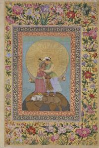 Jahangir's Dream. Abbas I, Shah of Persia and Jahangir, Emperor of India, C. 1620 by Abu al-Hasan