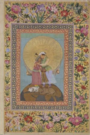 Jahangir's Dream. Abbas I, Shah of Persia and Jahangir, Emperor of India, C. 1620