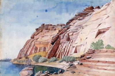 Abu Simbel, Egypt, 19th Century-Nestor l'Hote-Giclee Print