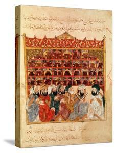 "Abu Zayd in the Library at Basra, from ""The Maqamat"" by Al-Hariri"