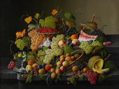 Abundant Fruit, 1858-Severin Roesen-Giclee Print
