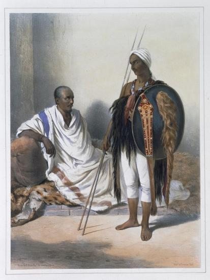 Abyssinian priest and warrior, 1848-Lemoine-Giclee Print
