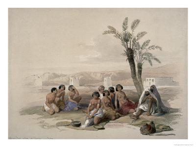 Abyssinian Slaves at Korti, Nubia-David Roberts-Giclee Print