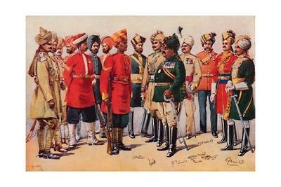 'A Group of Indian Soldiers', 1913
