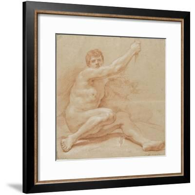 Académie d'homme-Jean Baptiste Van Loo-Framed Giclee Print