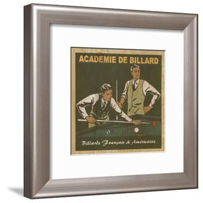 Academie de Billard I-Philippe David-Framed Art Print