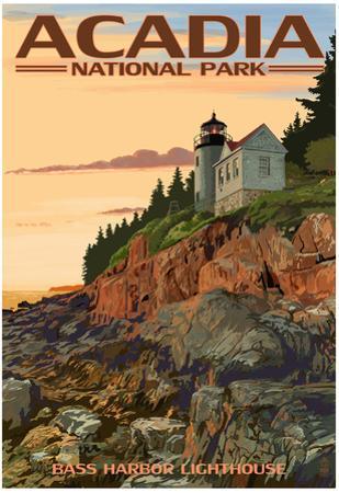 Acadia National Park, Maine - Bass Harbor Lighthouse