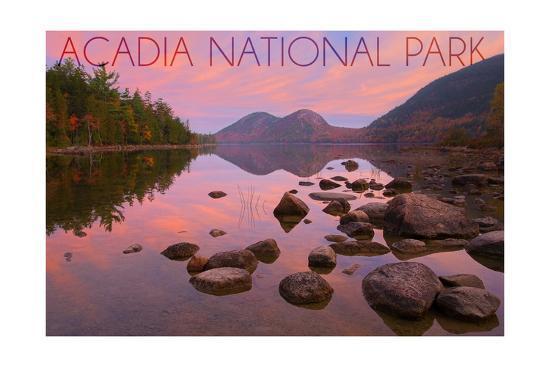 Acadia National Park, Maine - Jordan Pond-Lantern Press-Art Print