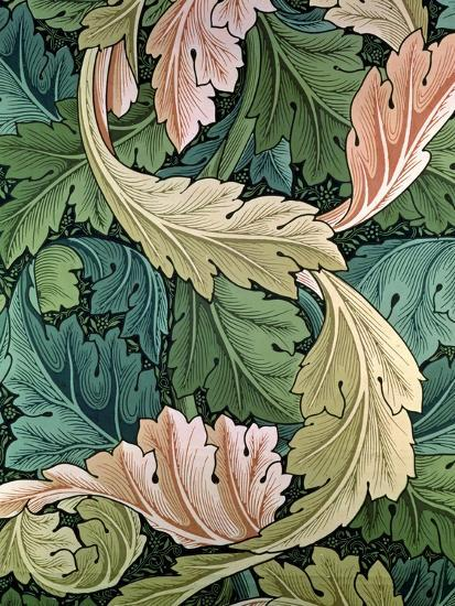 """Acanthus"" Wallpaper Design, 1875-William Morris-Premium Giclee Print"