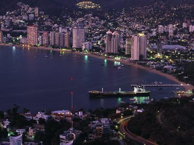 Acapulco Bay and Beach, Acapulco, Mexico-Walter Bibikow-Photographic Print