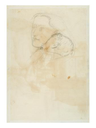 Accepted, 1853 (Pen and Brown Ink on Wove Paper)-John Everett Millais-Premium Giclee Print