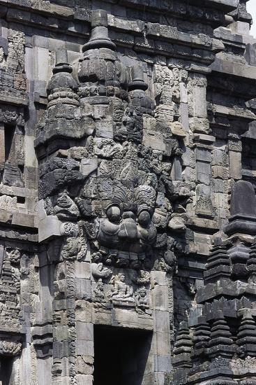 Access Door with Stone Decorations in One of Temples of Prambanan Temple Compounds (Unesco World He--Giclee Print