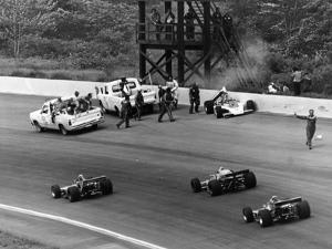 Accident at the Indianapolis 500, Indianapolis, Indiana, USA, 1974